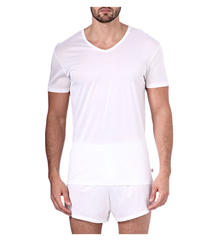 DEREK ROSE Lewis mercerised-cotton t-shirt (White