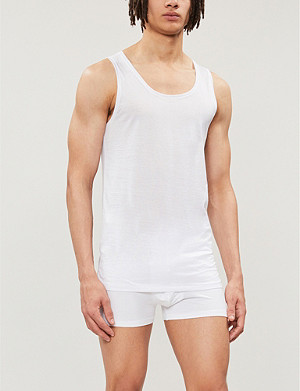 DEREK ROSE Lewis mercerised-cotton vest