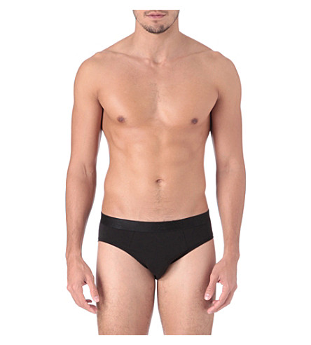DEREK ROSE Jack pima-cotton briefs (Black