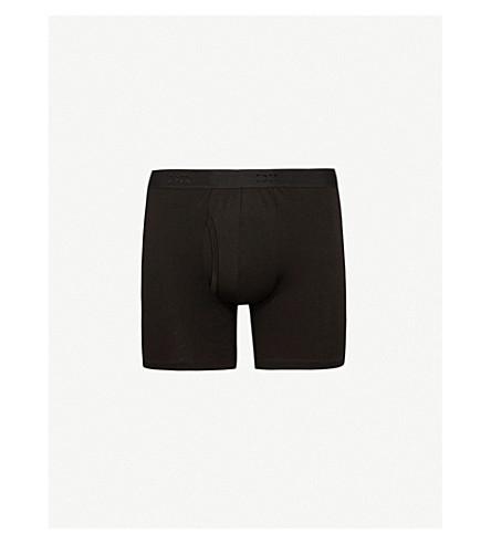 DEREK ROSE Jack slim-fit pima-cotton trunks (Black