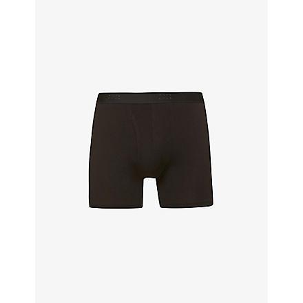DEREK ROSE Jack pima-cotton trunks (Black