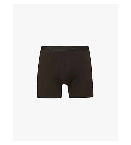 DEREK ROSE Jack pima-cotton trunks (Black