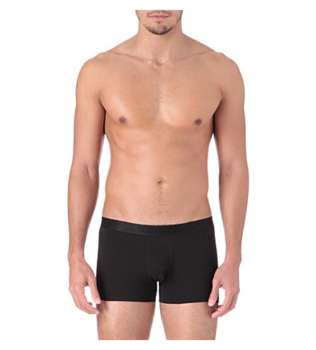 DEREK ROSE Jack cotton hipster trunks (Black