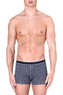 DEREK ROSE Plain Star stretch-cotton hipster trunks