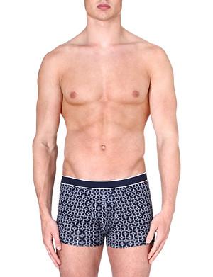 DEREK ROSE Plain Star stretch-cotton hipster trunks