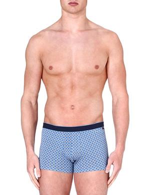 DEREK ROSE Multi Star stretch-cotton hipster trunks