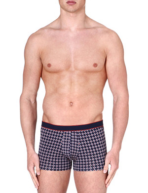DEREK ROSE Multi Star stretch-cotton hipster trunks