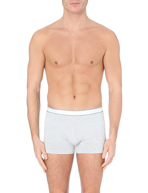 DEREK ROSE Mélange stretch-cotton hipster trunks