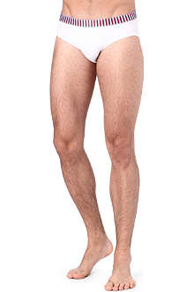 DEREK ROSE Multi-stripe waistband briefs