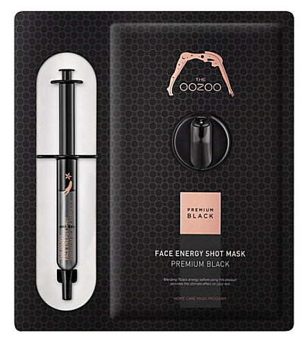 THE OOZOO Face energy shot mask premium black face mask
