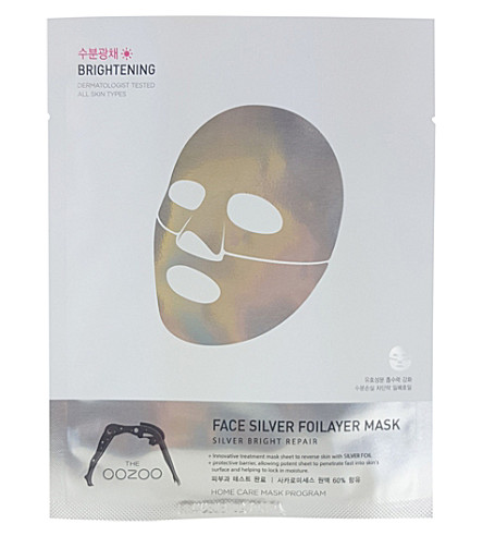 THE OOZOO Face Silver Foilayer face mask