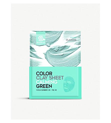 G9 Colour Clay calming green face mask