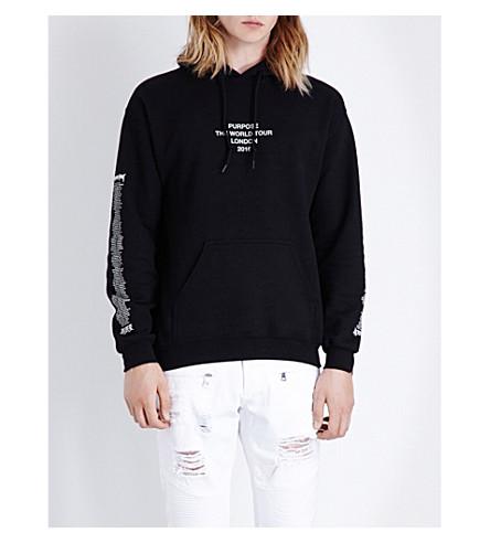 JUSTIN BIEBER Purpose tour london jersey hoody (Black
