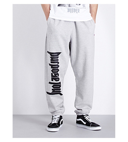 JUSTIN BIEBER Purpose Tour Champion jersey jogging bottoms (Grey