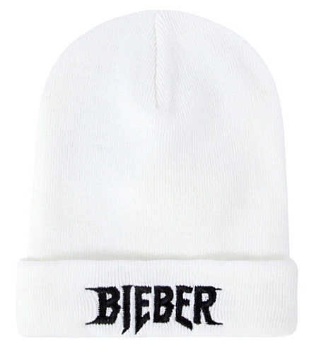 JUSTIN BIEBER Purpose Tour beanie (White