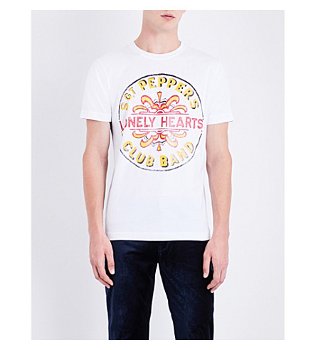 THE BEATLES Sgt. Pepper cotton-jersey T-shirt (White