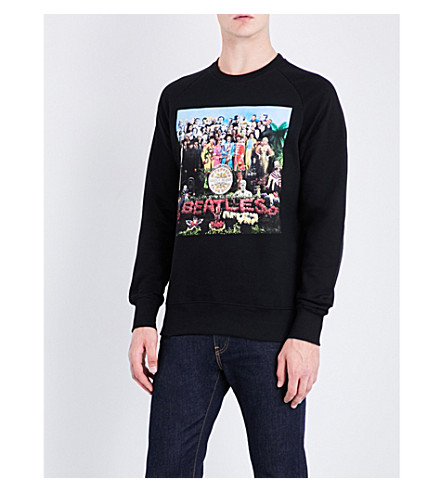 THE BEATLES Sgt. Pepper's Cover cotton-jersey sweatshirt (Black
