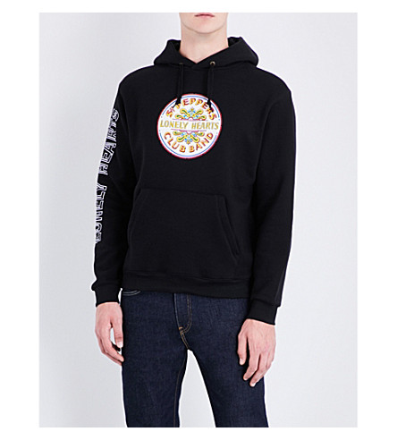 THE BEATLES Lonely Hearts logo cotton-jersey hoody (Black