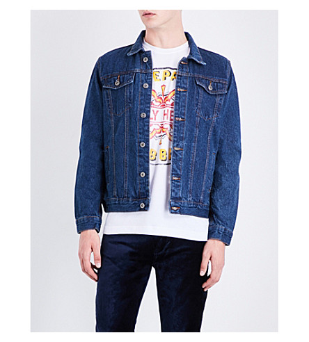 THE BEATLES Sgt. Pepper embroidered denim jacket (Blue