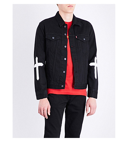 THE WEEKND Party Monster denim jacket (Black