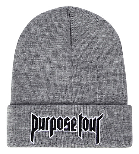 JUSTIN BIEBER Purpose Tour beanie (Grey