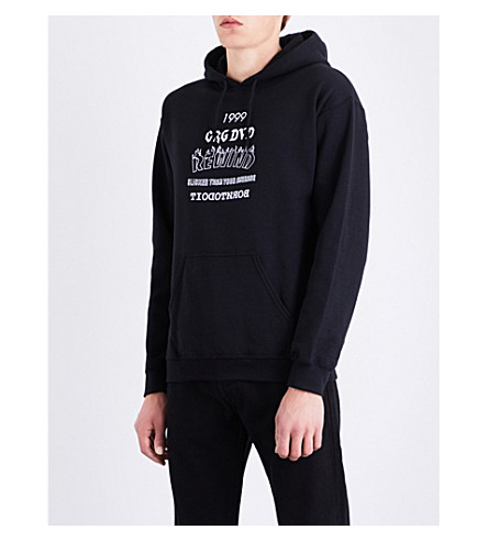 CRAIG DAVID Rewind jersey hoody (Black