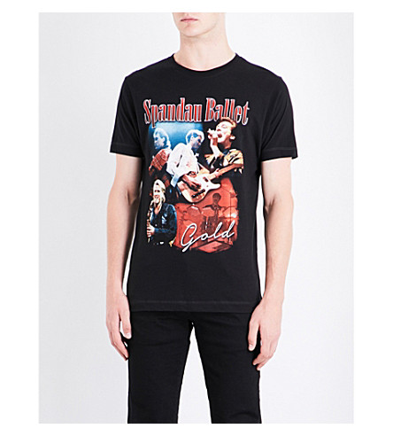 TRIBUTE COLLECTION Spandau Ballet-print cotton-jersey T-shirt (Black
