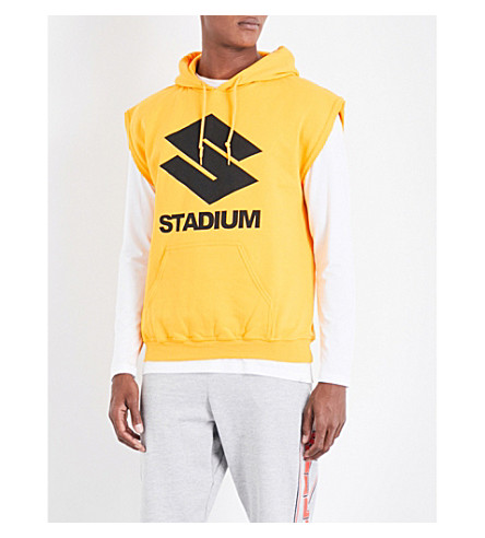JUSTIN BIEBER Purpose The Stadium Tour cotton-blend hoody (Yellow