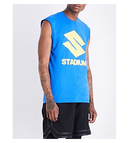 JUSTIN BIEBER Stadium Tour cotton-jersey top (Blue
