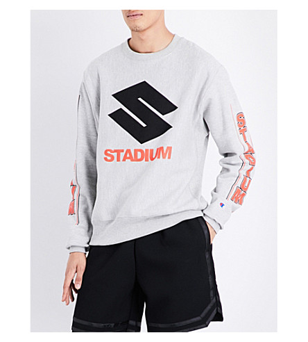 JUSTIN BIEBER Stadium cotton-jersey sweatshirt (Grey