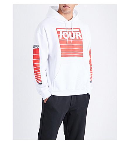 JUSTIN BIEBER Purpose The Stadium Tour cotton-jersey hoody (White