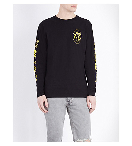 THE WEEKND XO logo cotton-jersey top (Black
