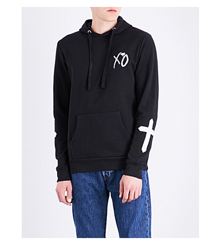 THE WEEKND XO Only cotton-blend hoody (Black