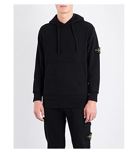 STONE ISLAND Cotton-jersey hoody (Black
