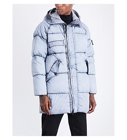 STONE ISLAND Dust frost-print padded parka jacket (Nero