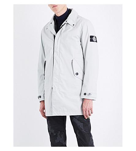 STONE ISLAND Hooded cotton-canvas coat (Antracite