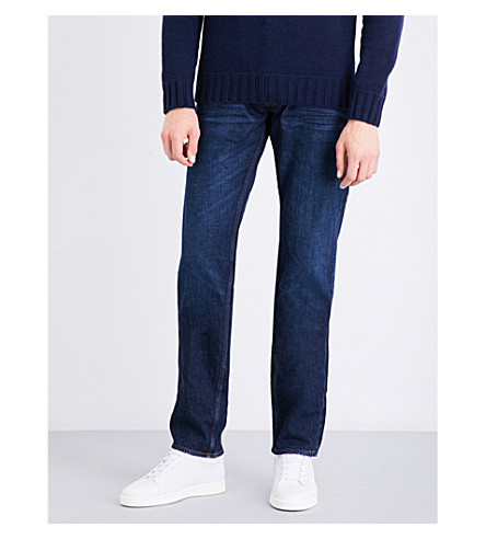 STONE ISLAND Slim-fit tapered jeans (Visc