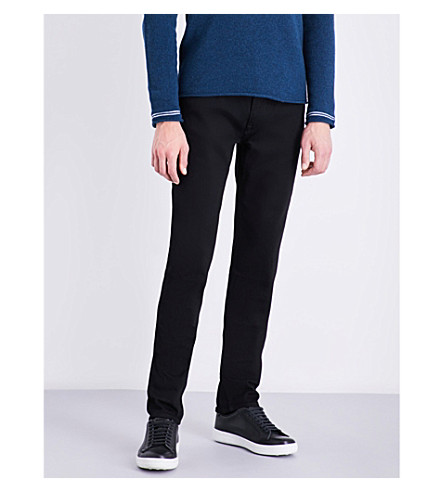 STONE ISLAND Straight skinny-fit mid-rise jeans (Wash