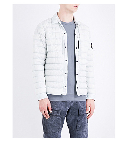STONE ISLAND Garment-dyed shell jacket (Stucco