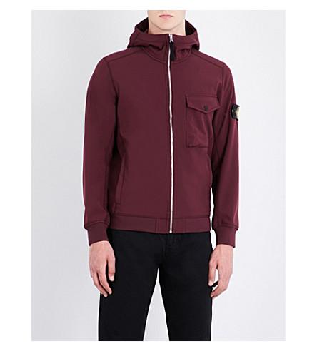 STONE ISLAND Compass shell jacket (Bordeaux