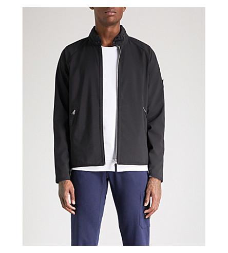 STONE ISLAND Concealed hood shell jacket (Black