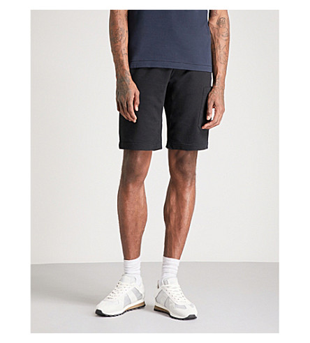 STONE ISLAND Logo patch jersey jogging shorts (Black