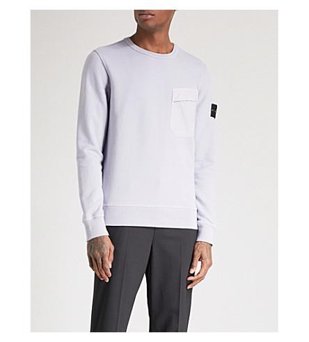 STONE ISLAND 口袋棉球衣运动衫 (Lavanda