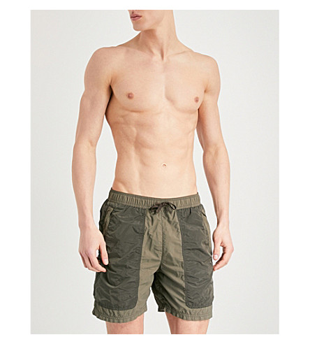 STONE ISLAND Ghost swim shorts (Military+green