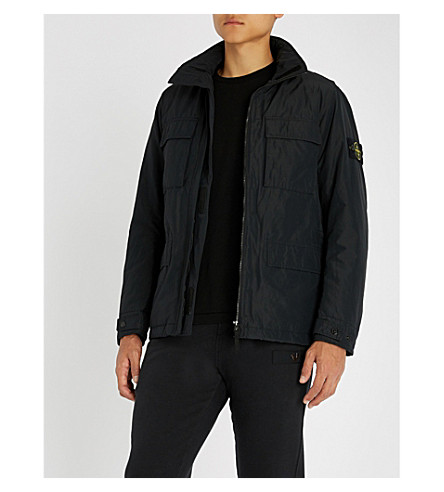 STONE ISLAND 口袋细节软壳面料夹克 (碳