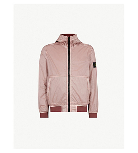 STONE ISLAND Hood shell jacket (Rose quartz