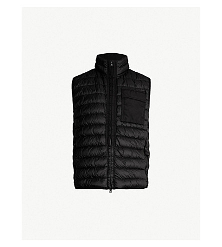 STONE ISLAND Padded down-filled gilet (Black