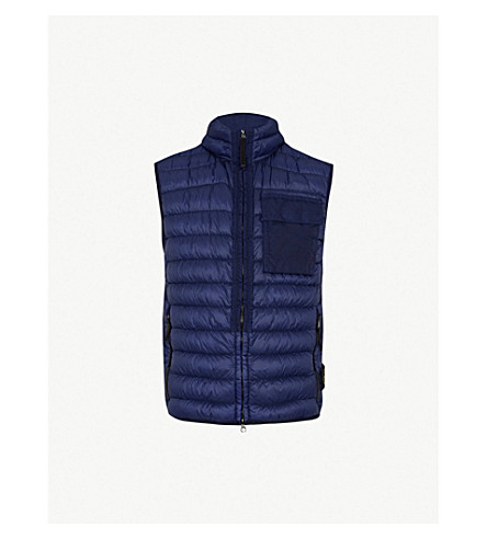 STONE ISLAND Padded down-filled vest (Ink