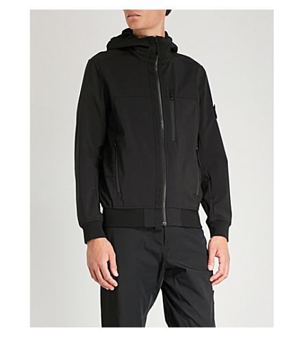 Negro de ISLAND chaqueta capucha con STONE capucha Y4qzx4