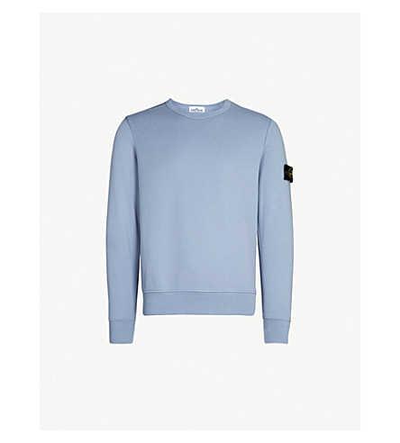STONE ISLAND Badge sleeve cotton-jersey sweatshirt (Lavanda/lilac